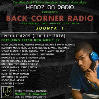 BACK CORNER RADIO: Episode #205 (Feb 11th 2016)