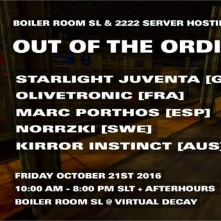 OLIVETRONIK at BOILER ROOM SL  friday,october22