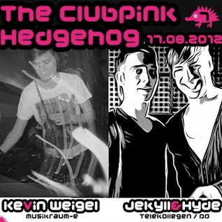 007- The Clubpink Hedgehog with kevin + Jekyll & Hyde