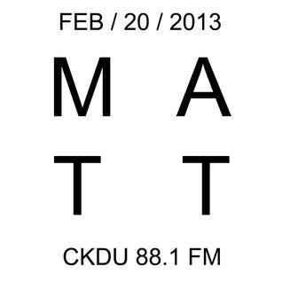 CKDU - February 20 2013