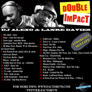 Dj Alexo &  Lanre Davies: Presents - Double Impact Mixtape.