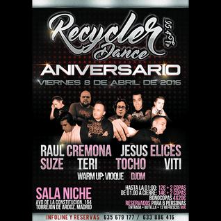 7.- DJ Teri @ Aniversario 'Recycler Dance' (Sala Niche, Torrejón) [08-04-2016]