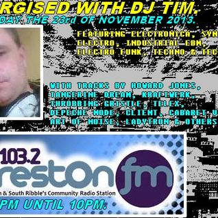 Energised With DJ Tim - 23/11/13/ - 103.2 Preston fm.