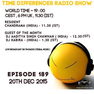 Dj Aaditya Singh Chawhan - Time Difference - 189 (20th November 2015) On T-M Radio
