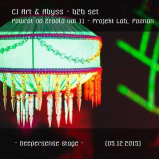 CJ Art & Abyss B2B set @ Powrot do Zrodla 11 - Deepersense Stage (Projekt Lab - Poznan) [05.12.15]