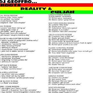 DJ GEOFFRO - ROOTS, REALITY & CULJAH (clip)
