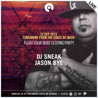 DJ Sneak - live at Float Your Boat Closing Party, Ibiza - 23-Sep-2015