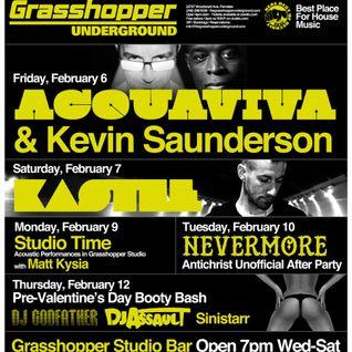 John Acquaviva live at Grasshopper Detroit, Feb 2015
