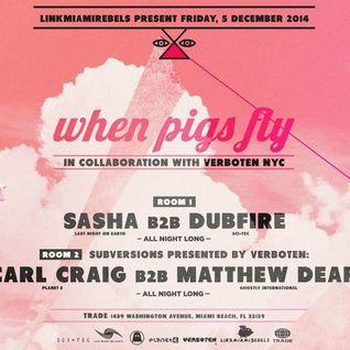 SASHA b2b DUBFIRE - live at Trade, Miami - 05-Dec-2014