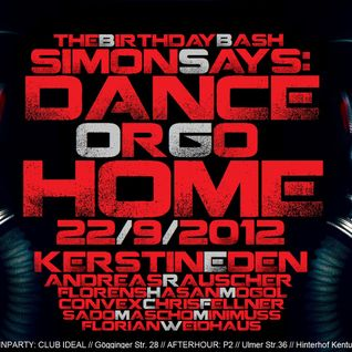 KERSTIN EDEN @ SIMON SAYS: Dance or go Home! 22/9/2012