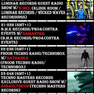 20-21h Luminar Records Guest Radio Show w/K-Mel (Klinik Room/Luminar Records/Spaceshuttle Records)