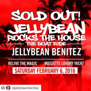 Jellybean Benitez 4 Hour Live set #JellybeanRocksTheHouse #BoatRide Fort Lauderdale, FL Feb 6th 2016