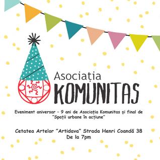 Eveniment aniversar - 9 ani de Asociatia KOMUNITAS (4 decembrie 2015, Cetatea Artelor)