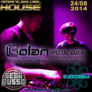DJ Golan Special Guest ELEKTRONA Radio 24-08-2014 (Progressive-House & Tech-House)