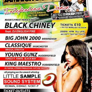 DJ ENGLISH FIRE (BLACK CHINEY) PART 2 AUDIO - HUDDERSFIELD 8/4/12