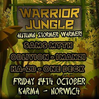 Warrior Jungle 14/10/16 mix