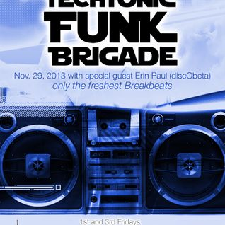 Episode 35: Techtonic Funk Brigade w guest Erin Paul of discObeta on @NSBRadio Nov. 29, 2013