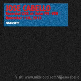 Jose Cabello (Hybrid) Special Podcast - Solar FM 11112015