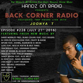 BACK CORNER RADIO: Episode #228 (July 21st 2016)