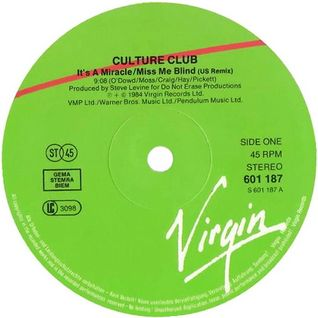 "Culture Club - Miss Me Blind (Dj ""S"" Bootleg Extended Dance Re-Mix)"