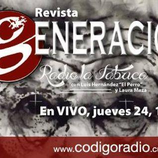 """Radio la Fábrica entrevista a Carlos Martínez Rentería, Director de """"Revista Generación"""" programa tr"""