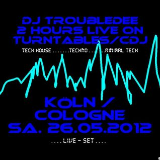 Cologne TechHouse Party Live Set DJ TroubleDee 26 05 2012