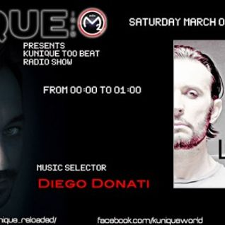 Kunique Too Beat Radio M20 Saturday March 9 GUEST Luca Cassani