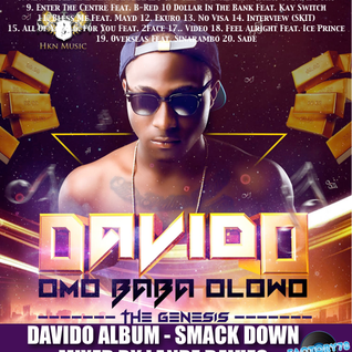 Davido Album Smack Down Mixed By Lanre Davies