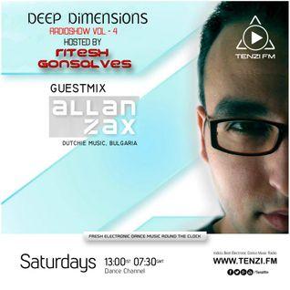 Allan Zax guest mix for Deep Dimensions on Tenzi.fm (08.02.14)