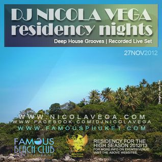 Nicola Vega_Recorded Deep and Funky Grooves @ Famous Beach Club, Phuket 27th Nov 2012, Thursday