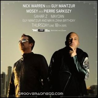 Nick Warren b2b Guy Mantzur - Live @ The Cat & Dog - 18.6.2015
