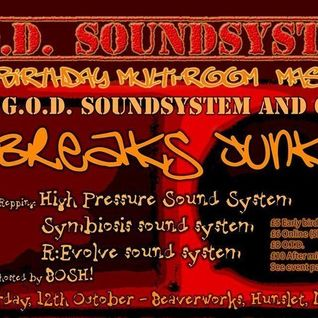 Breaksjunky's GOD Sound System's 1st Birthday Bash Set