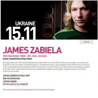 James Zabiela - Live at Godskitchen Urban Wave, IEC, Kiev, Ukraine (15-11-2008)