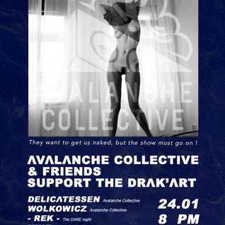 DJset for AVALANCHE COLLECTIVE & FRIENDS support LE DRAK'ART @Le Drak'art, Grenoble 24.01.2014