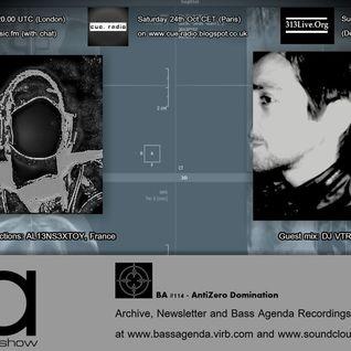 Bass Agenda 114: AntiZer0 special with ALIENSEXTOY & DJ VTR