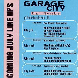 Jason Sears - Garage City - Bar Rumba - 1997