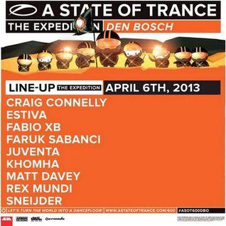 Matt Davey - Live @ A State of Trance 600 Den Bosch (06.04.2013)