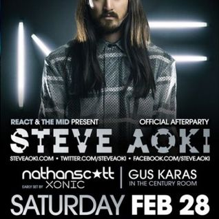 Steve Aoki - Live @ Aragon Ballroom (Chicago) - 28.02.2015