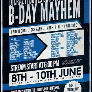 DjCrazyTBones and Tony Kudros B-Day Mayhem