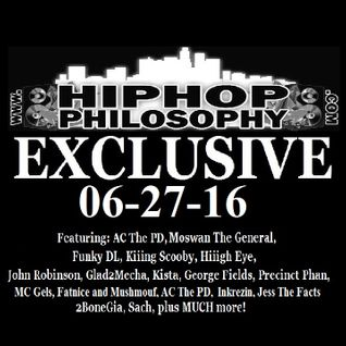 HipHopPhilosophy.com Radio - LIVE - 06-27-16