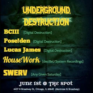 Bc3 Live at Underground Destruction - Decibel Lounge 6-1-13
