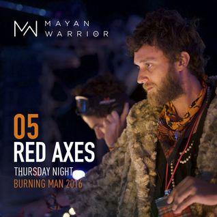 Red Axes - Mayan Warrior - Burning Man - 2016