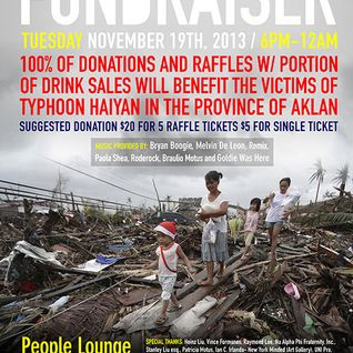 Fundraiser for the Philippines @ People Lounge