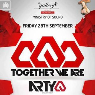 Arty - Live at Ministry of Sound London (Gallery Debut) - 28.09.2012