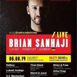 Timo Glock - Electronic Festival pres. Brian Sanhaji Live @Variete, Katowice (06.06.2014)