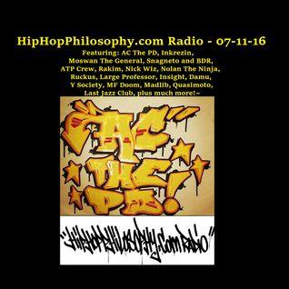 HipHopPhilosophy.com Radio - LIVE - 07-11-16