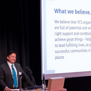 Dhamendra Kanani speaks at the BIG Assist Conference