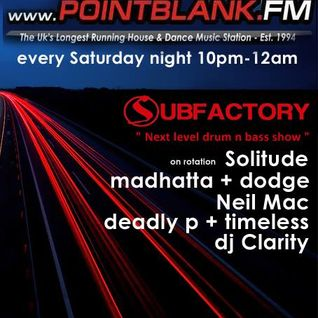 Subfactory Next Level DnB Show- Deadly P 16/01/2016