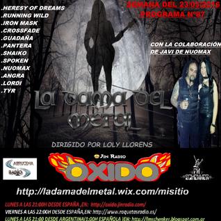 La dama del metal,87º(Especial con javi de Nuomax)23/05/2016