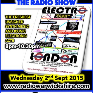 RW040 - THE JOHNNY NORMAL RADIO SHOW - 2ND SEPTEMBER 2015 - RADIO WARWICKSHIRE